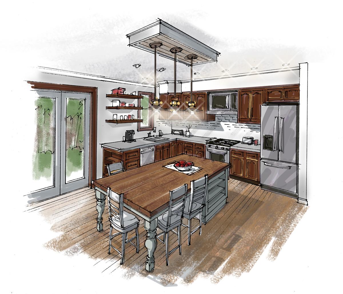 Kitchen Sketch Holladay Graphics